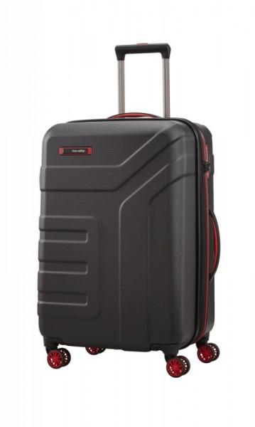 Travelite Vector 4w M cestovní kufr TSA 70 cm 79-91 l Black