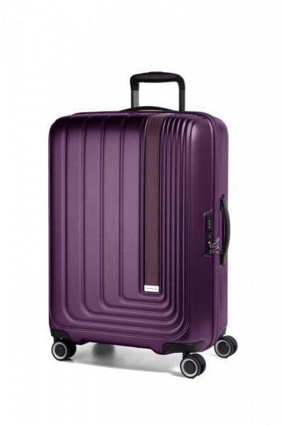 March Beau Monde L cestovní kufr PC/ABS TSA 72 cm 101 l Purple Metallic