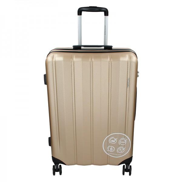 Cestovní kufr Marina Galanti Nova M – zlatá 70l