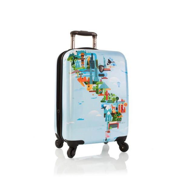 Heys Kabinový cestovní kufr FVT World Map S 37 l – multicolor