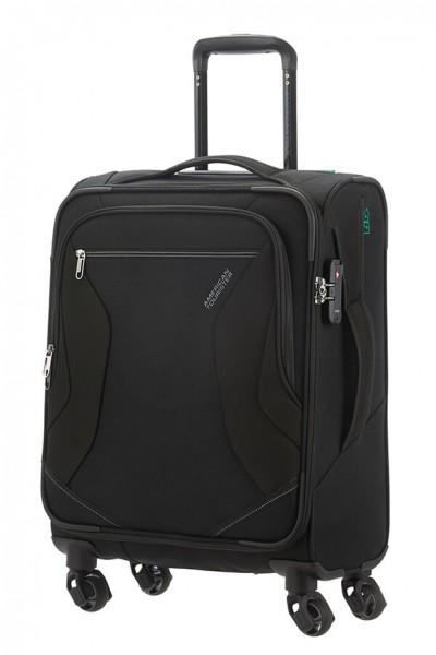 American Tourister Kabinový cestovní kufr Eco Wanderer Spinner 83G 40 l – černá