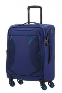 American Tourister Kabinový cestovní kufr Eco Wanderer Spinner 83G 40 l – modrá