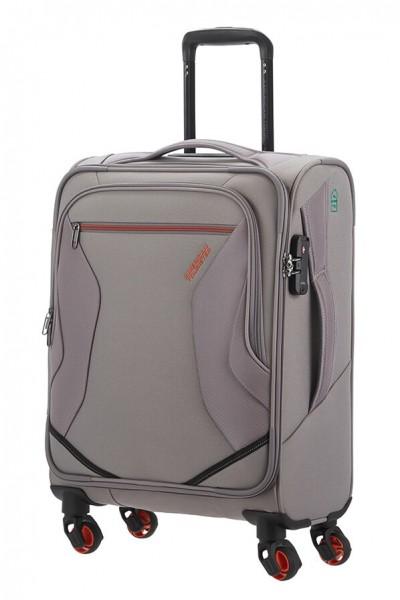American Tourister Kabinový cestovní kufr Eco Wanderer Spinner 83G 40 l – šedá