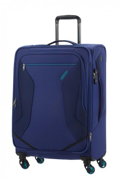 American Tourister Cestovní kufr Eco Wanderer Spinner 83G 73,5/81 l – tmavě modrá