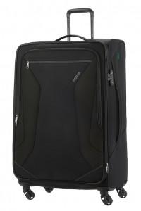 American Tourister Cestovní kufr Eco Wanderer Spinner 83G 113/121 l – černá