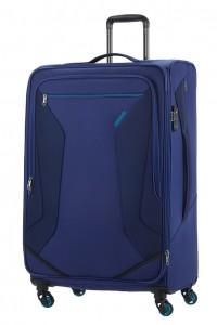 American Tourister Cestovní kufr Eco Wanderer Spinner 83G 113/121 l – tmavě modrá