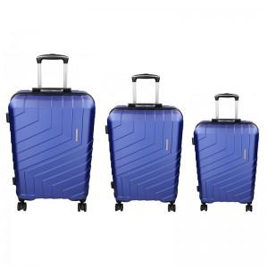 Sada 3 cestovních kufrů Marina Galanti Reno S, M, L – modrá