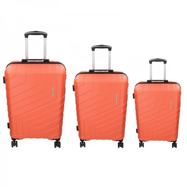 Sada 3 cestovních kufrů Marina Galanti Reno S, M, L – lososová