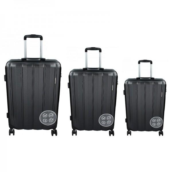 Sada 3 cestovních kufrů Marina Galanti Nova S, M, L – černá