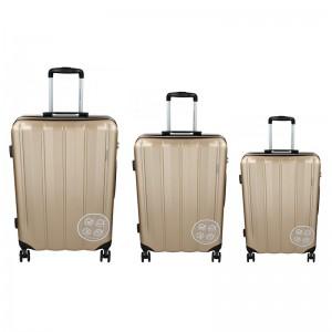 Sada 3 cestovních kufrů Marina Galanti Nova S, M, L – zlatá