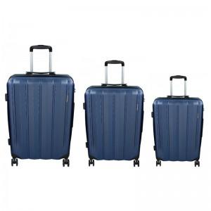 Sada 3 cestovních kufrů Marina Galanti Nova S, M, L – Modrá