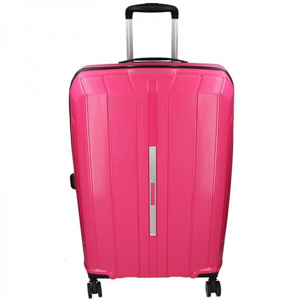 Cestovní kufr Snowball Barcelona L – růžová 95l