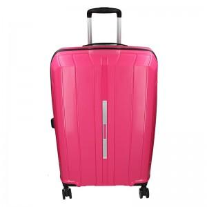 Cestovní kufr Snowball Barcelona M – růžová 65l