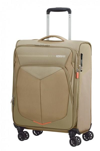 American Tourister Kabinový cestovní kufr Summerfunk Spinner EXP 78G 43/46 l – béžová
