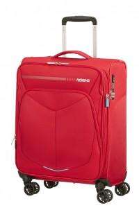 American Tourister Kabinový cestovní kufr Summerfunk Spinner EXP 78G 43/46 l – červená