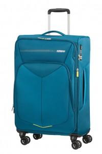 American Tourister Cestovní kufr Summerfunk Spinner EXP 78G 71,5/77 l – modrá