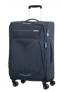 American Tourister Cestovní kufr Summerfunk Spinner EXP 78G 71,5/77 l – tmavě modrá