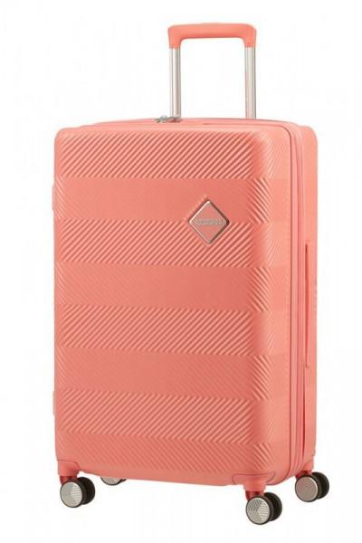 American Tourister Flylife M rozšiřitelný cestovní kufr TSA 67 cm 81 l Coral Pink