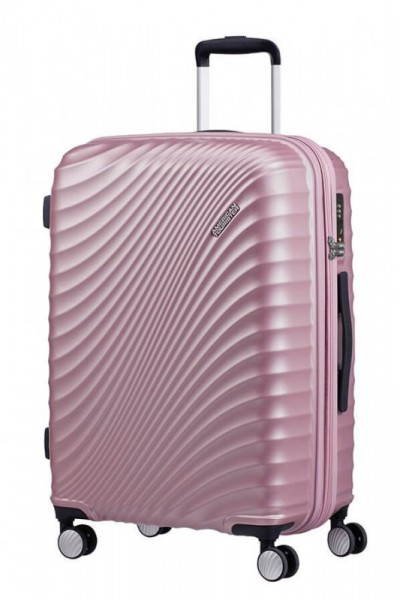 American Tourister Jetglam M rozšiřitelný cestovní kufr TSA 67 cm 77,5 l Metallic Pink