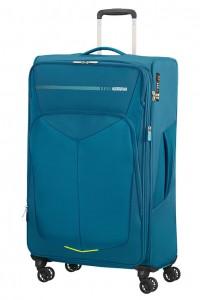 American Tourister Cestovní kufr Summerfunk Spinner EXP 78G 109,5/119 l – modrá