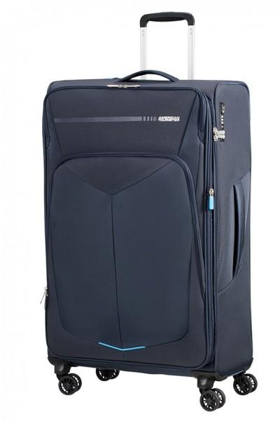 American Tourister Cestovní kufr Summerfunk Spinner EXP 78G 109,5/119 l – tmavě modrá
