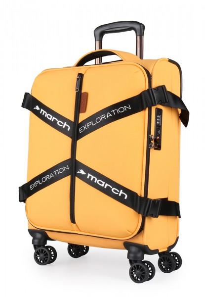 March Kabinový cestovní kufr Exploration S 3834 39 l – golden honey