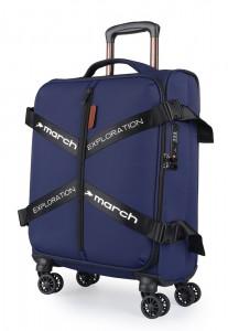 March Kabinový cestovní kufr Exploration S 3834 39 l – tmavě modrá