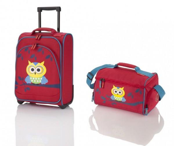 Travelite Youngster dětská sada kufru 22 l a cestovní tašky 14 l Owl