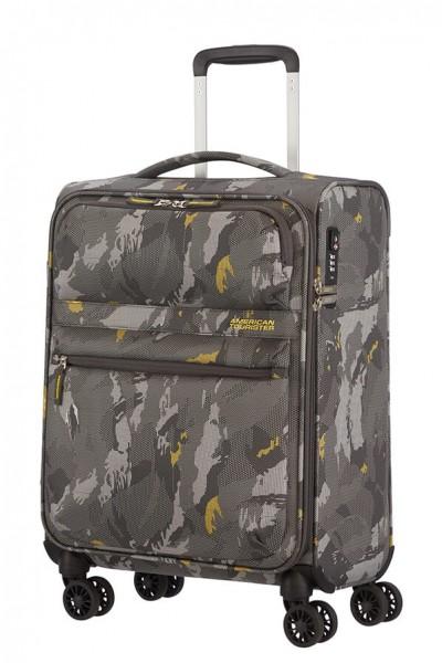 American Tourister Kabinový cestovní kufr Matchup Print Spinner 77G 42 l – camo grey