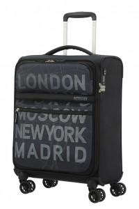 American Tourister Kabinový cestovní kufr Matchup Print Spinner 77G 42 l – city map black