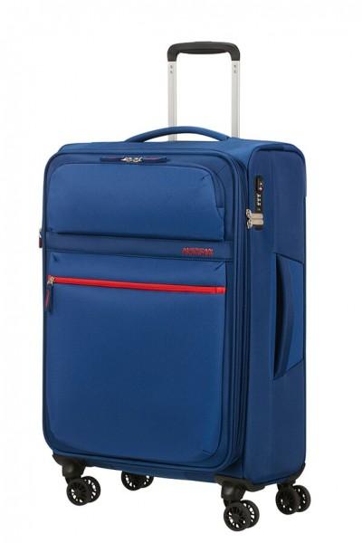 American Tourister Cestovní kufr Matchup Spinner 77G 71/78 l – modrá