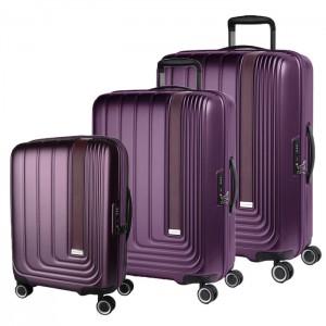 March Sada cestovních kufrů Beau Monde S + M + L, fialová