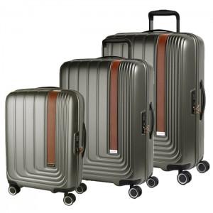 March Sada cestovních kufrů Beau Monde S + M + L, šedá