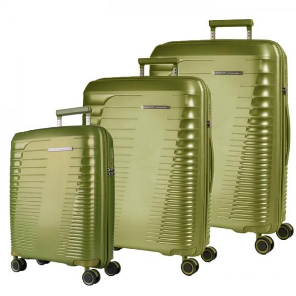 March Sada cestovních kufrů Stonic S + M + L, zelená