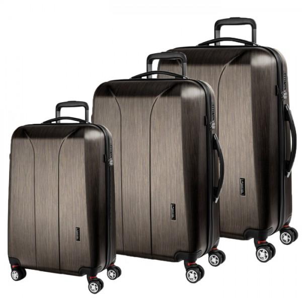 March Sada cestovních kufrů New Carat S + M + L, bronzová