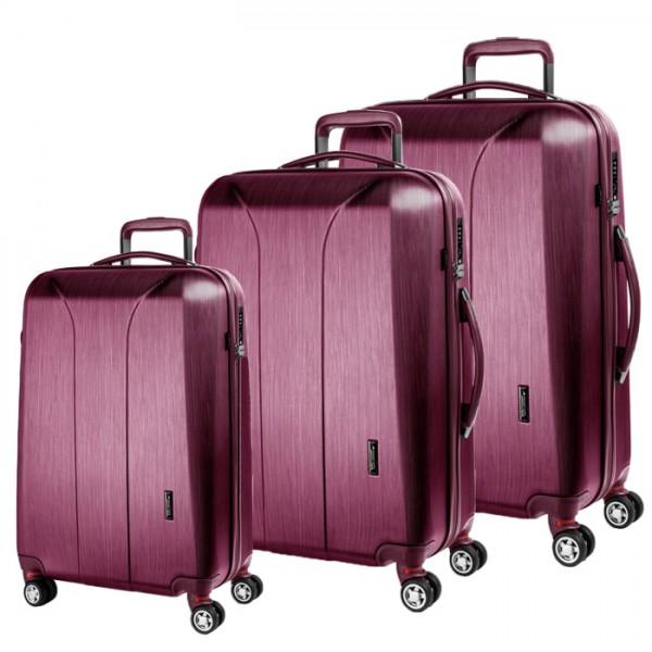 March Sada cestovních kufrů New Carat S + M + L, růžová