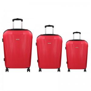 Sada 3 cestovních kufrů Marina Galanti Fuerta S, M, L – červená