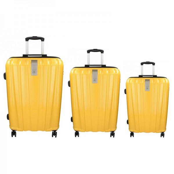 Sada 3 cestovních kufrů Snowball Lada S,M,L – žlutá