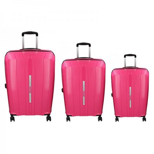 Sada 3 cestovních kufrů Snowball Barcelona S,M,L – růžová