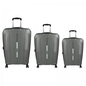 Sada 3 cestovních kufrů Snowball Barcelona S,M,L – šedá