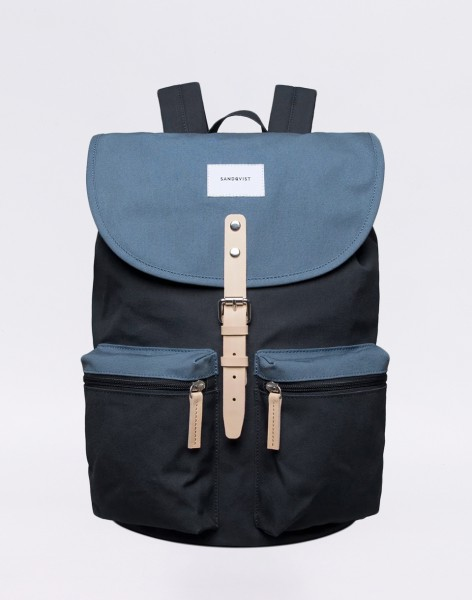Batoh Sandqvist Roald Multi Blue / Dusty Blue with Natural Leather