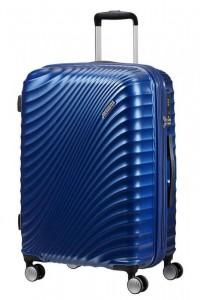American Tourister Jetglam M rozšiřitelný cestovní kufr TSA 67 cm 77,5 l Metallic Blue
