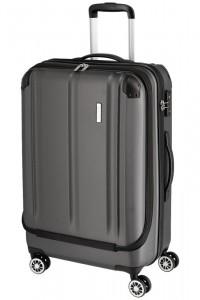 Travelite City 4w M business cestovní kufr TSA 68 cm 70 l Anthracite