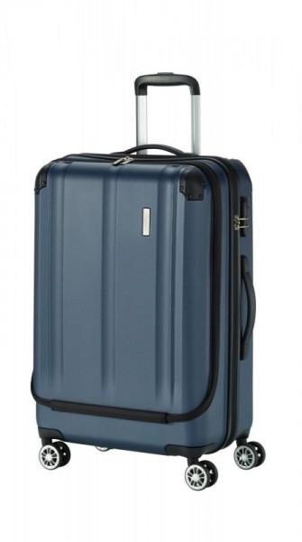 Travelite City 4w M business cestovní kufr TSA 68 cm 70 l Navy