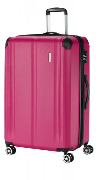 Travelite City 4w L cestovní kufr TSA 77 cm 113/124 l Berry