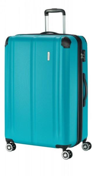 Travelite City 4w L cestovní kufr TSA 77 cm 113/124 l Petrol