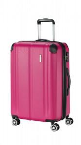 Travelite City 4w M cestovní kufr TSA 68 cm 78/86 l Berry
