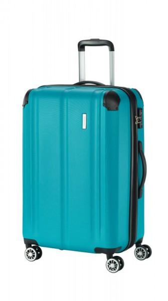 Travelite City 4w M cestovní kufr TSA 68 cm 78/86 l Petrol