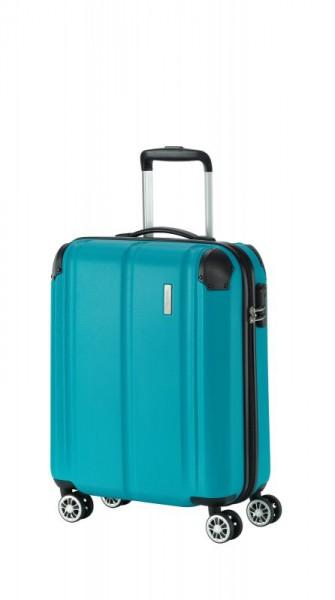 Travelite City 4w S palubní cestovní kufr 55x40x20 cm 40 l Petrol