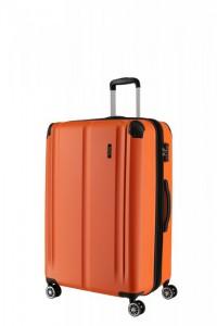 Travelite City 4w M cestovní kufr TSA 68 cm 78/86 l Orange